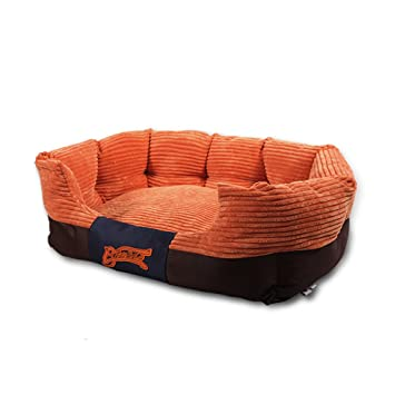 Xingxiu Teddy Kennel Lavable Estaciones Pomeranian Perro Cama Perros Medios Animales Gato litière, Naranja,