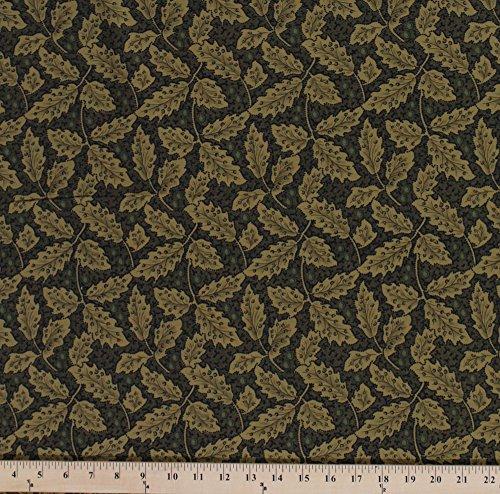 (Cotton Jo Morton Pepper Mill Blacks Leaves Berries Cotton Fabric Print by The Yard D784.43)