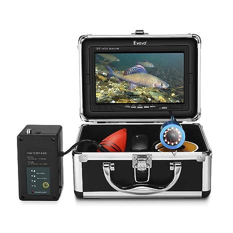 Eyoyo Underwater Fishing Camera Video Fish Finder 7 Inch Lcd Monitor Hd 1000 Tvl Waterproof Camera Adjustable Infrared White Light For Ice Lake Sea