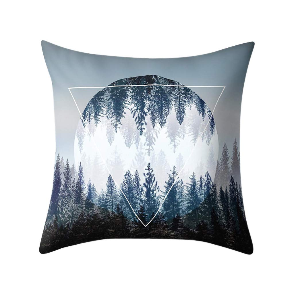 BBestseller Funda de Almohada geométrica,Imprimiendo Cojines para sillas Cremallera Oculta Cojines Sofa Almohadas IKEA Pillow Case