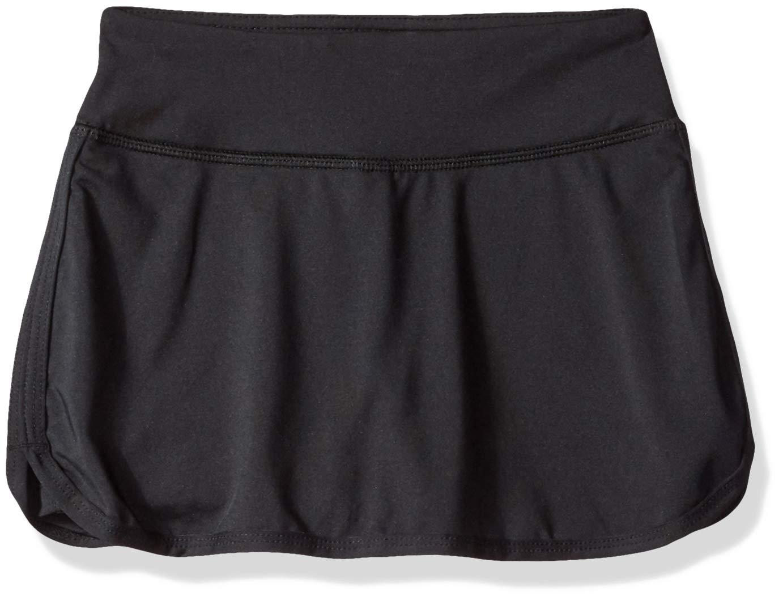 Starter Girls' 11.5'' Golf Club Skort with 3'' Inner Short, Black, XS (4/5) by STARTER