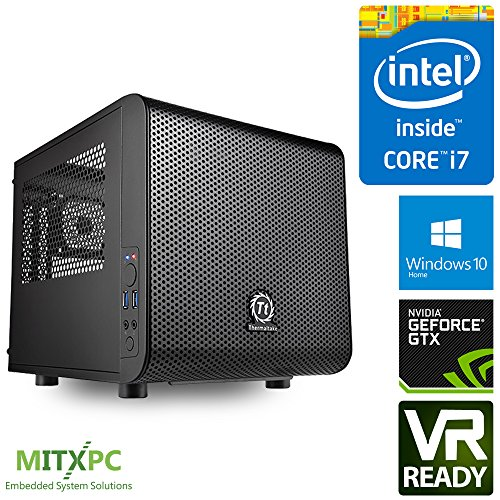 VR Ready Mini Gaming PC w/ Intel i7-7700, 16GB, 256GB NVMe M.2 SSD,2TB HDD, GTX 1080 TI, Win 10 home, CV1 - Configured and Assembled by MITXPC by MITXPC (Image #7)