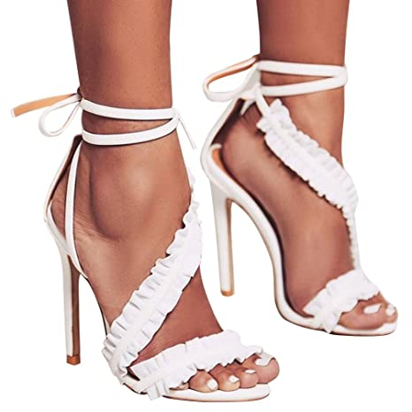 Acquista Sandali Con Cinturino Alla Caviglia Sandali Con Tacco Alto Da Donna Sandali Da Donna Sandali Di Moda Sandali Da Donna Designer Scarpe Da