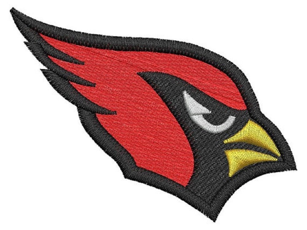 Cardinal patch embroidered iron on applique sew on (Small, 100 pcs Red) by cordini