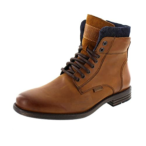 66e5f48e6c Zapatos de cuero Levis para hombre, botines con cuello Emerson, botas,  insercion de