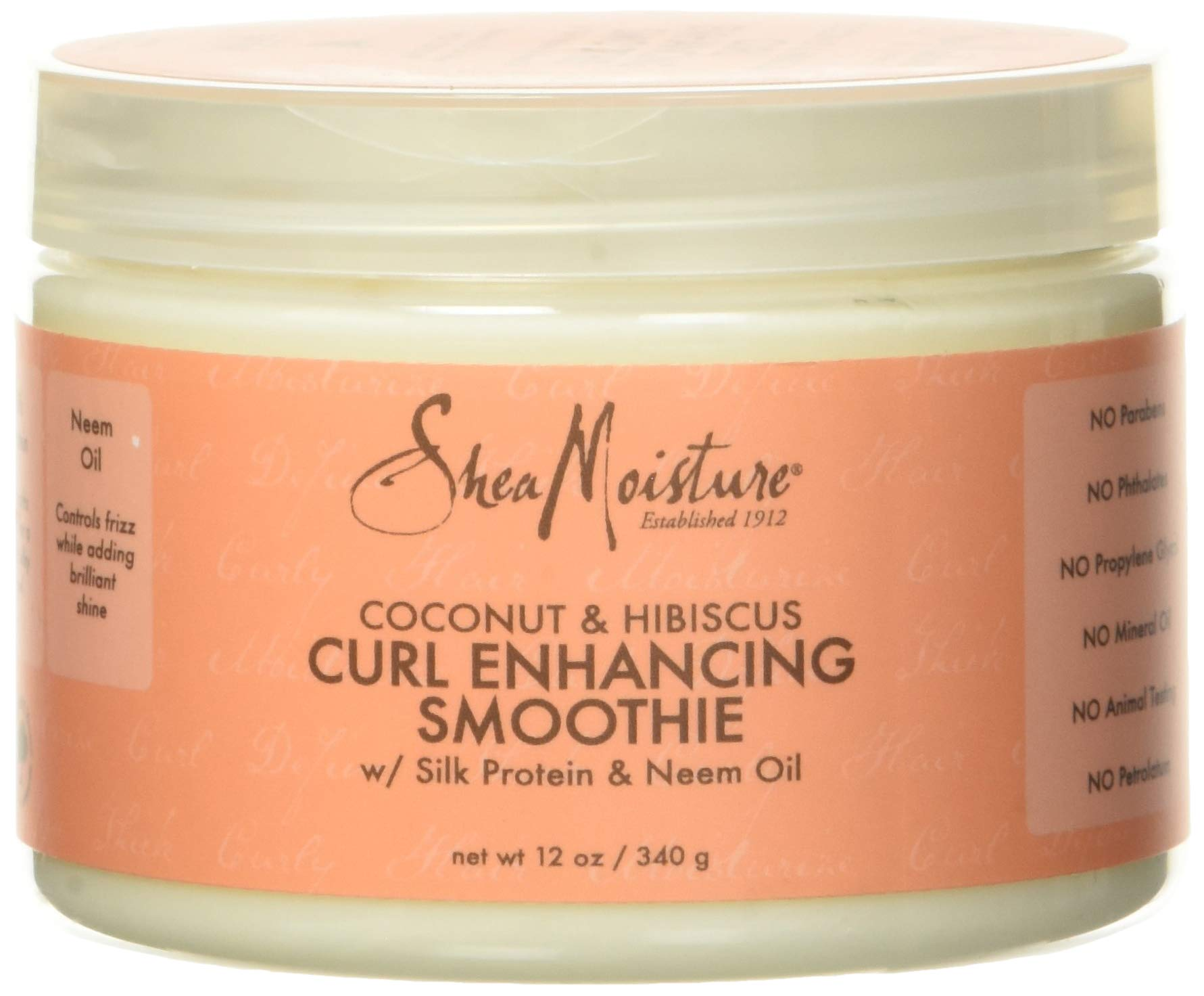 SHEA MOISTURE Coconut Hibiscus Curl Enhancing Smoothie, multi, 12 Ounce (290223)
