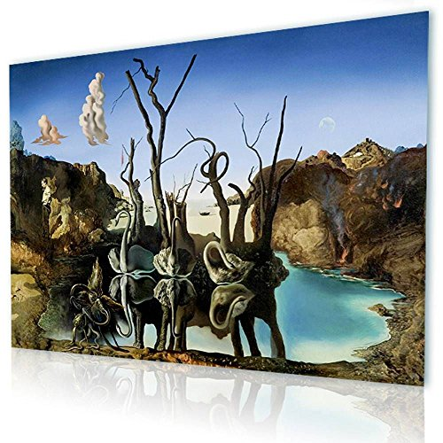 Alonline Art - Swans Reflecting Elephants Salvador for sale  Delivered anywhere in Canada
