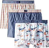 Original Penguin Men's Woven Fashion 3 Pack, Blue, White, Red, L