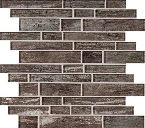 Antica Tile Stone - MS International SMOT-GLSIL-ANTSIL8MM Antico Silversmith Interlocking Mesh-Mounted Mosaic Tile, 11.81 x 11.81 x 8mm, Gray, 10 Piece