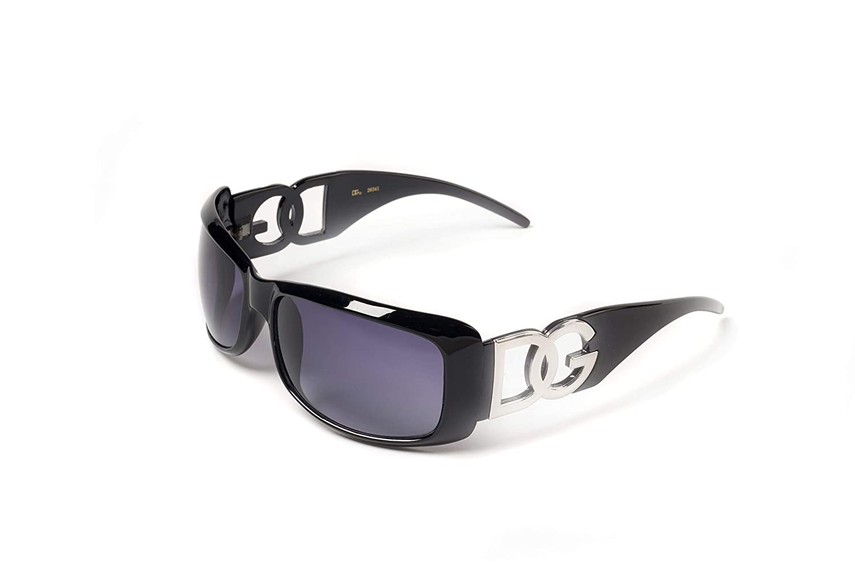 DG D.G ® Gafas - Negro con espejo de humo Flash lente ...