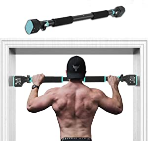 """COLORFEY Pull Up Bar Doorway - Mens Womens Home Gym Fitness Chin Up Bar Upper Body Workout Doorframe Bar No Screw Pullup Bar for Door 28.3""""- 37.8"""""""