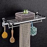 DHWM-Towel rack stainless steel owan fold bath towel rack health bathroom hanging Metal Hanger