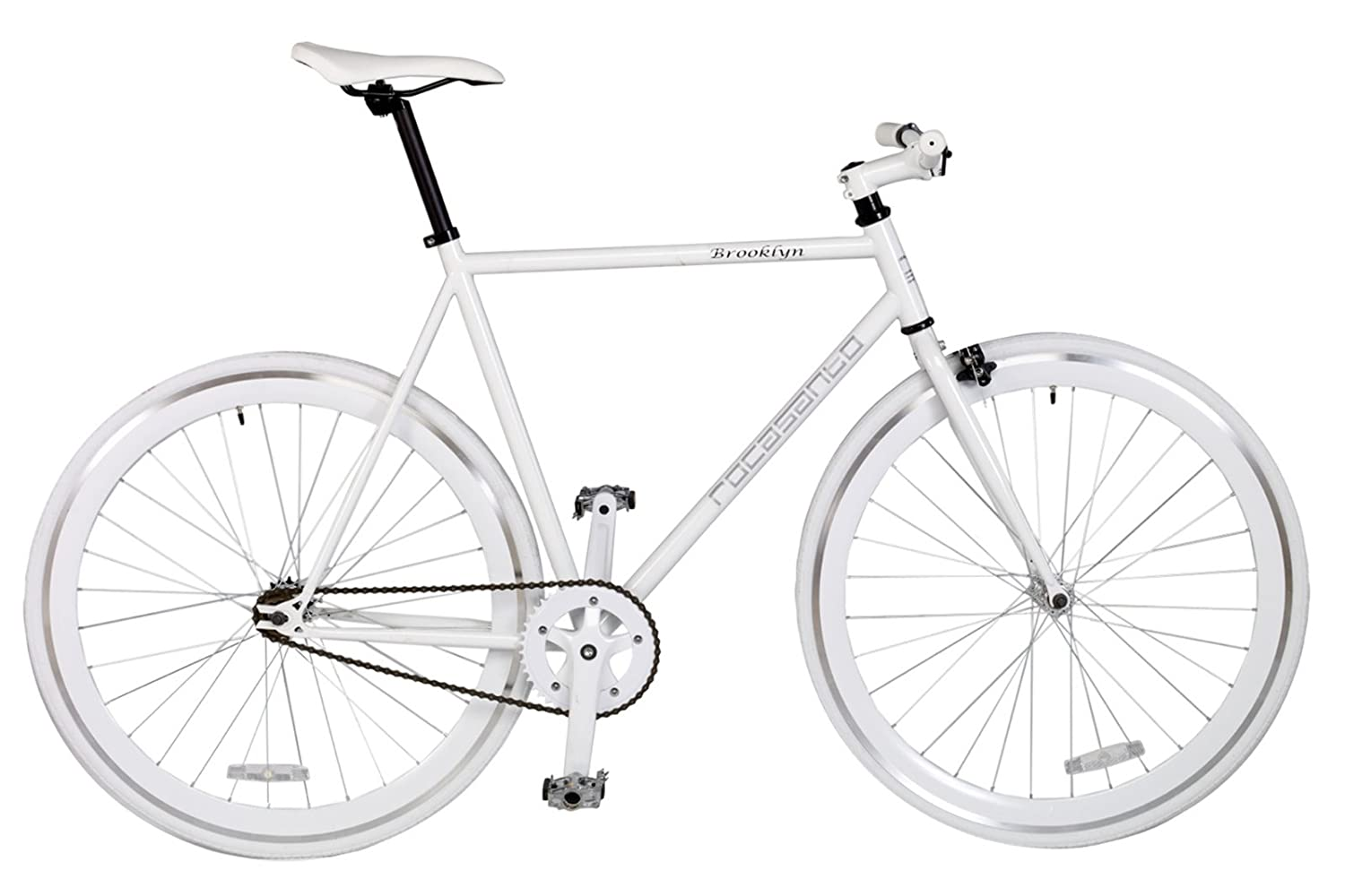 Rocasanto Bike - Bicicleta fixie v, tamaño 51, color blanco ...
