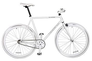 Rocasanto Bike - Bicicleta fixie v, tamaño 54, color blanco / blanco: Amazon.es: Deportes y aire libre