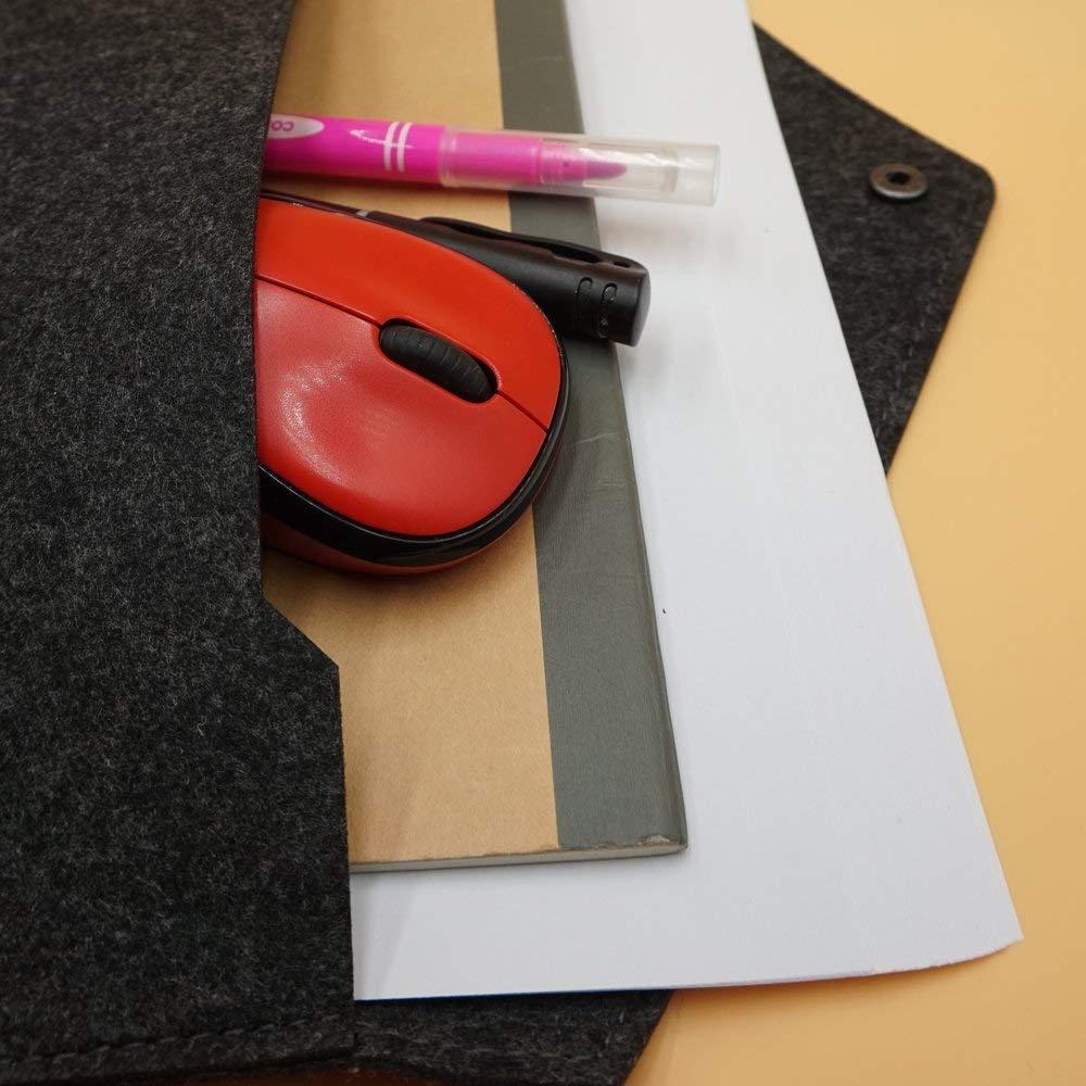 Alwaysuc 3 pcs Felt File Folder, Durable Briefcase, Document Bag, Paper File Folders, Portfolio Case, Letter Envelope, Handbag Button Closure, for Office Home School Stationery