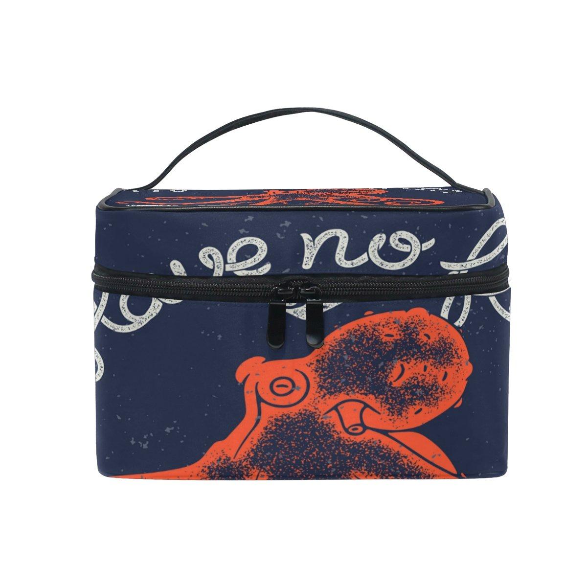 3df274b90d5f Amazon.com: ALAZA Octopus Blue Cosmetic Bag Makeup toiletry Bag ...