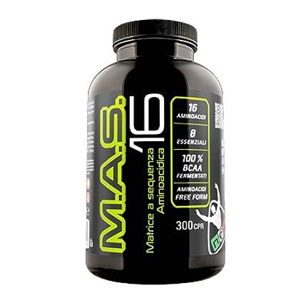 Net Integratori MAS 16 300 compresse Matrice di 16 Aminoacidi Essenziali  sequenza aminoacidica Intra pre e Post workout per Massimizzare il recupero  ...
