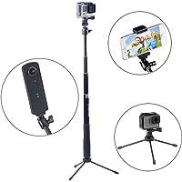 Smatree SmaPole Q3 Palo estensibile con treppiede per GoPro Hero 7/6/5/4/3+/3/2/1/Session/Hero 2018 per Fotocamere Compatte/Cellulari