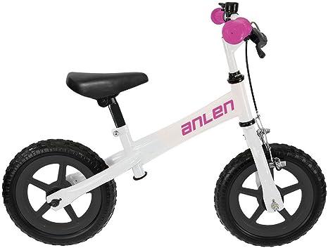 M-Wave Anlen Bicicleta Infantil, Unisex Adulto, Blanco, 12 ...