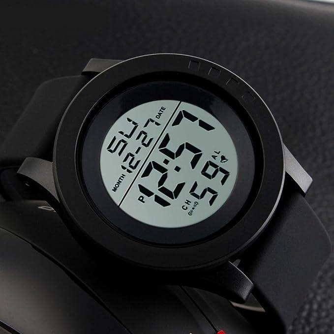 Amazon.com: Relojes de hombre LED impermeables relojes ...