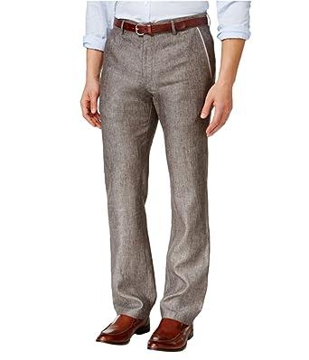 e8f37b896e1775 Tasso Elba Mens Textured Crosshatch Casual Trousers at Amazon Men's Clothing  store: