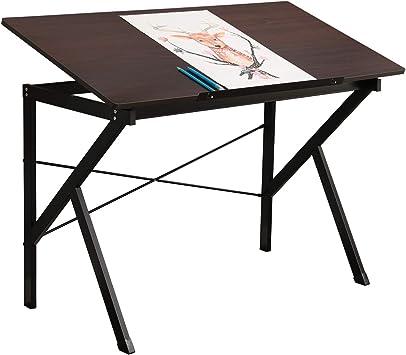 DlandHome 120 * 60cm Mesa de Dibujo/Escritorio, Bandeja de ...