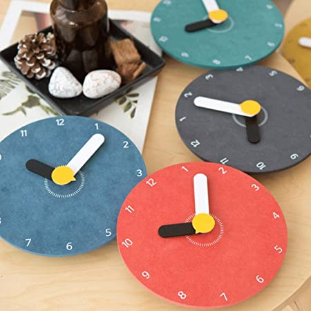 Amazon.com: Gran Reloj De Pared Creativo De Dibujos Animados Niños Dormitorio Mute Gráficos Personalizados Reloj De Pared (Color : Yellow): Home & Kitchen