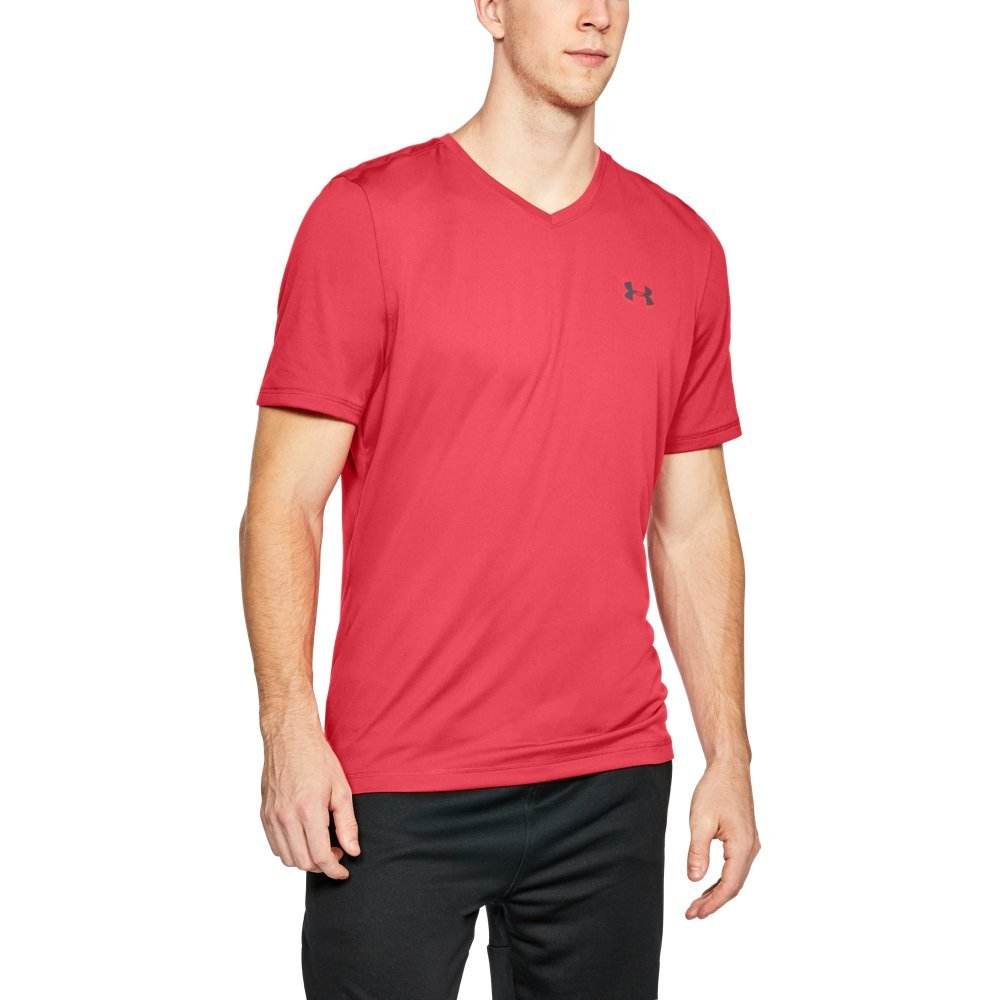 Under Armour Men's Tech V-Neck T-Shirt, Pierce (629)/Rhino Gray, X-Large by Under Armour