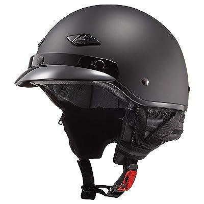 LS2 Helmets Bagger Motorcycle Half Helmet (Matte Black - Medium): LS2 Helmets: Automotive