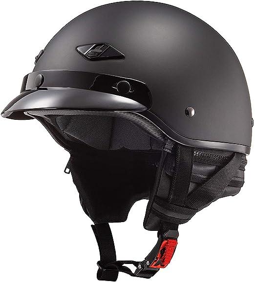 LS2 Helmets Bagger Motorcycle Half Helmet Hard Luck - X-Large