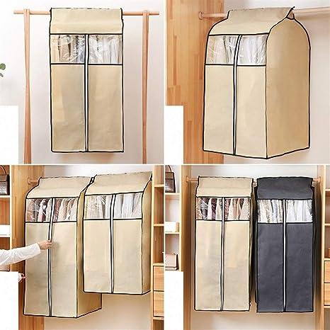 LOOEST Ropa de Hombro Transparente Cubre-Proteger del Polvo, la Suciedad y marcaje Juego de 4 Abrigo de Traje (Color : Grey, Size : 60x50x90cm): Amazon.es: Hogar
