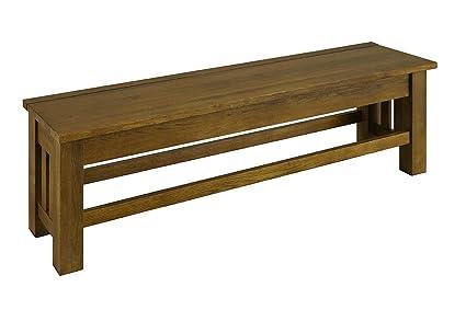 A America Laurelhurst Rustic Oak Finish Bench
