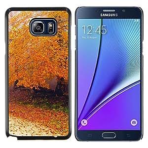 Cubierta protectora del caso de Shell Plástico    Samsung Galaxy Note 5    Naturaleza Montañas Sunset @XPTECH
