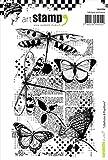Carabelle Studio Dragonflies & Butterflies Cling Stamp A6