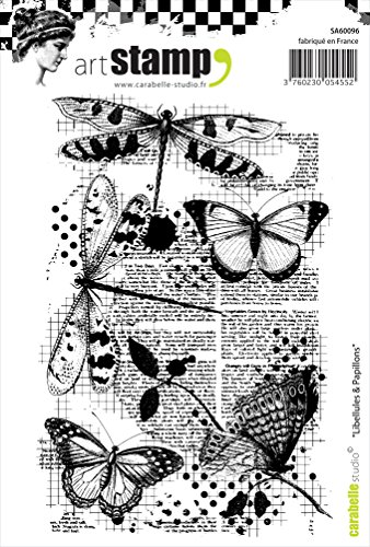 Carabelle Studio Dragonflies & Butterflies Cling Stamp A6 by Carabelle Studio