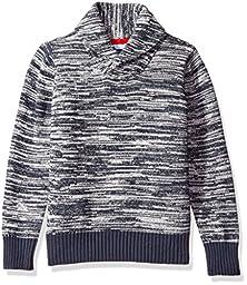 Tommy Hilfiger Little Boys Robert Shawl Sweater, Swim Navy, 4