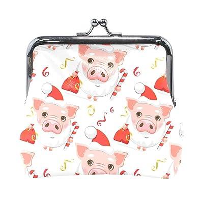 Amazon.com: Fashion Womens Coin Purse Cute Pigs Vintage ...
