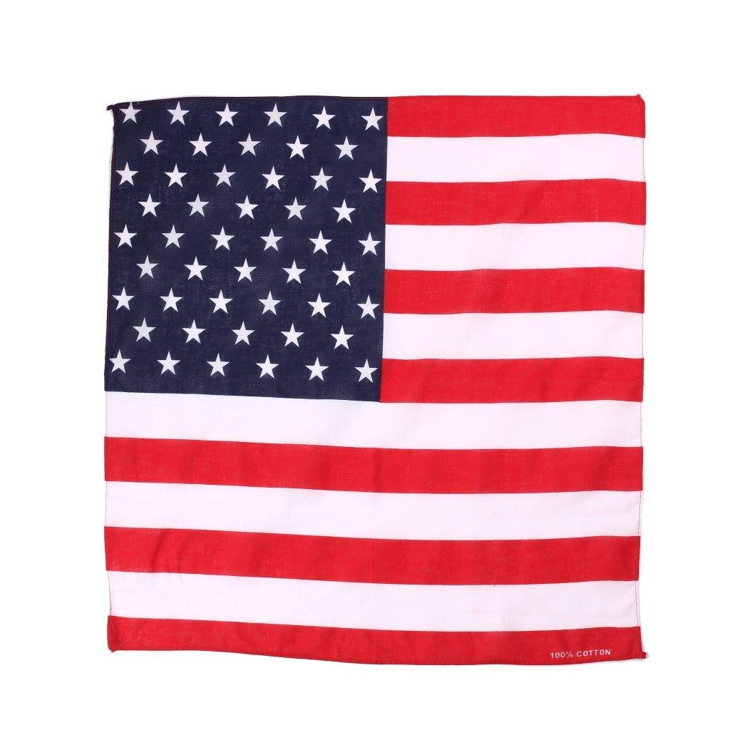 Komonee Bandiera USA a stelle e strisce Bandana Sciarpa di testa