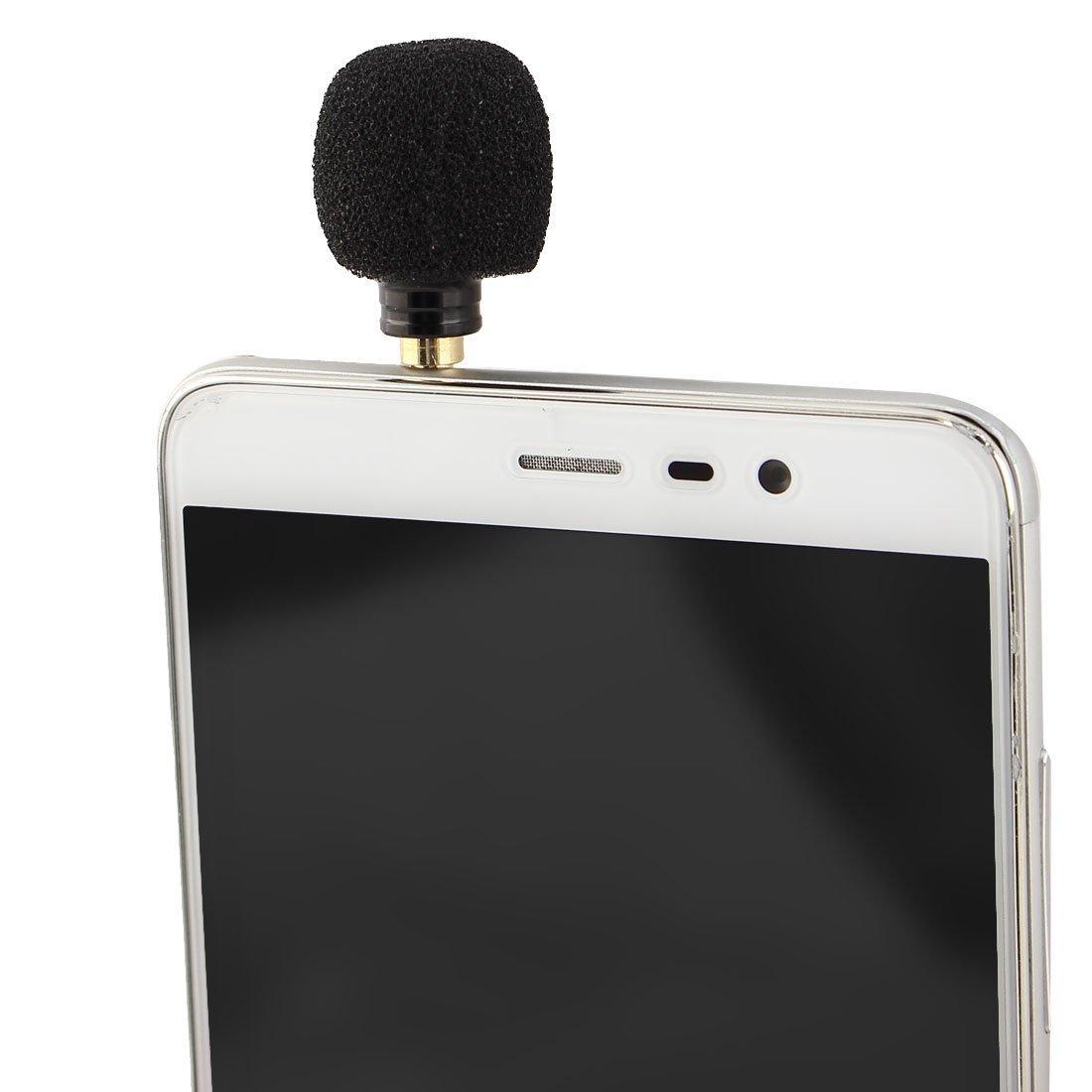 Amazon.com: eDealMax portátil de Mano 3.5mm Mini micrófono Negro Para Smartphone Tablet: Electronics