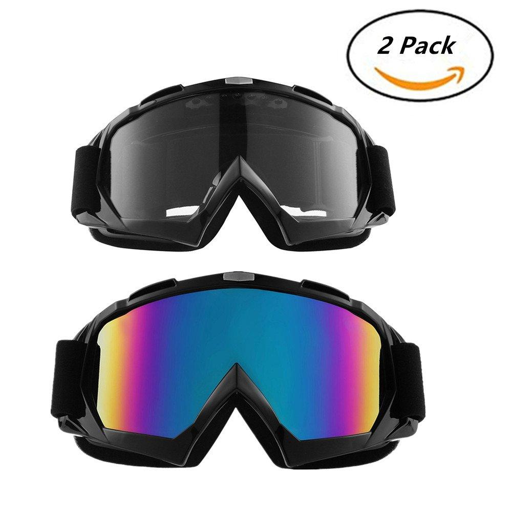 Yxaomite Lunettes de Protection de Yeux Masques Lunettes de ski Masques Snowboard lunettes de moto Equitation Coupe-Vent cyclisme Motocross Goggle Anti-UV coupe-vent Anti-sable Anti-poussi/ère Casques