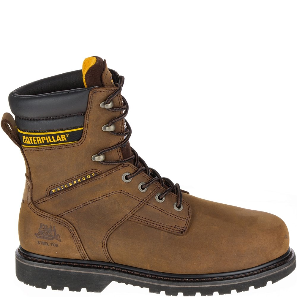 Caterpillar Men SALVO 8'' Waterproof ST, Brown, 7 UK