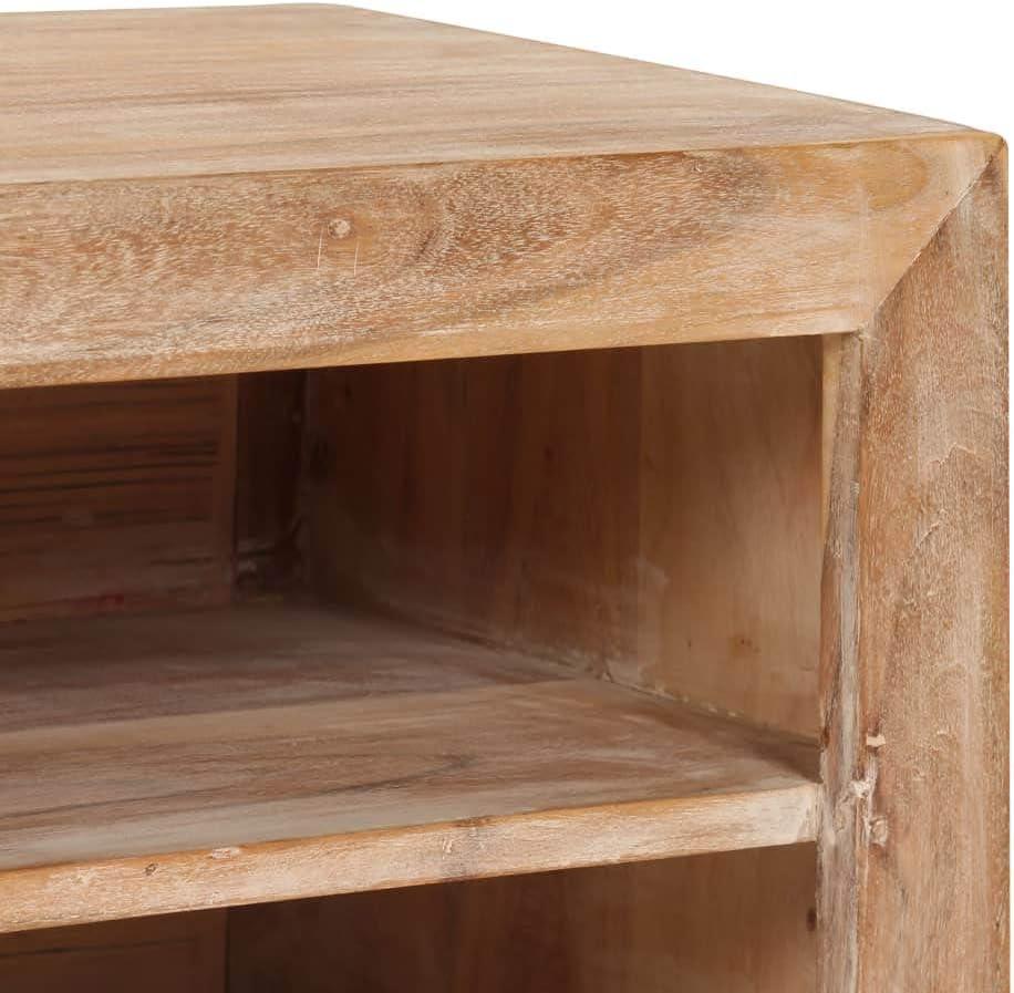 vidaXL Madera Maciza Mueble para TV Acacia 120x30x40 Marr/ón Oscuro Multimedia
