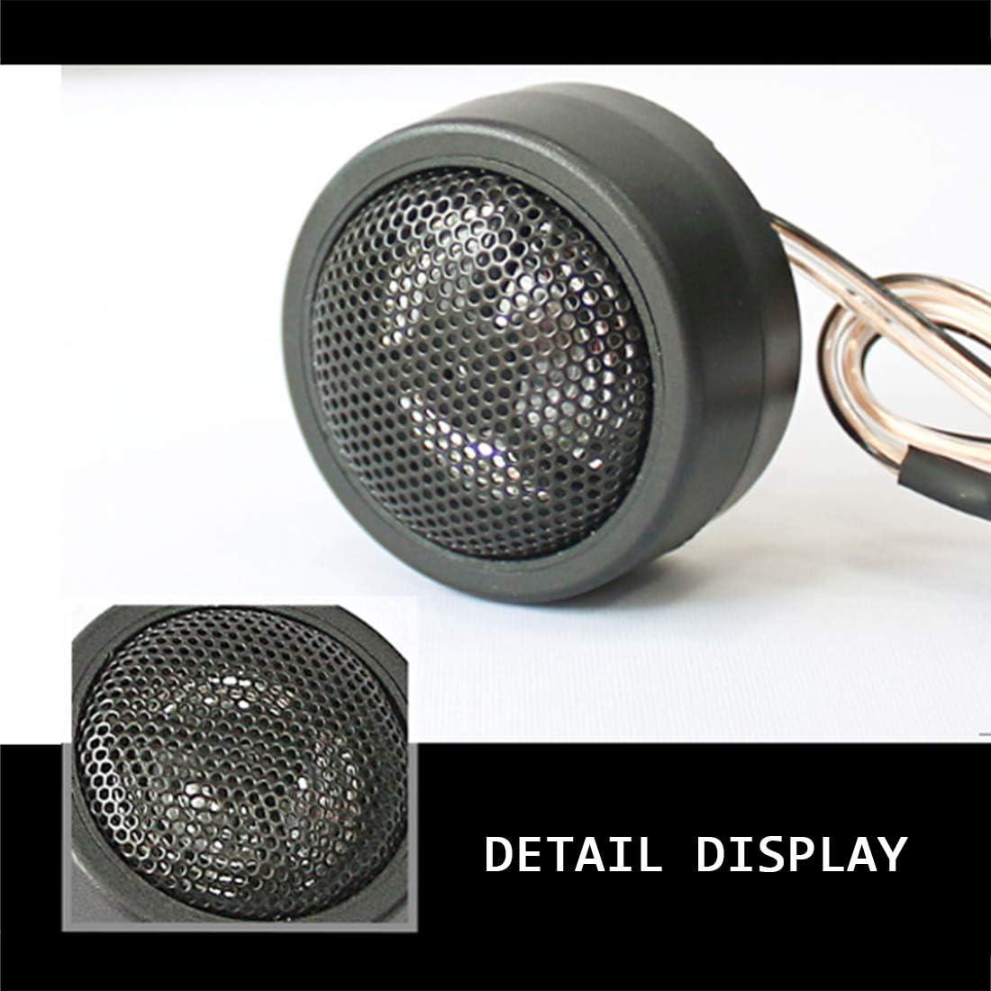 Car Tweeter Speaker Silk Dome Tweeters Audio Component Tweeters Premium Speaker System 1-Inch Tweeter Kit Original Sound Playback Simple to Install