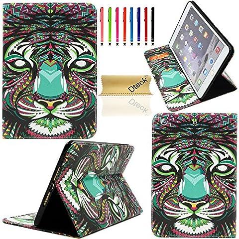 iPad Air Case,iPad 5 Case, Dteck(TM) Cartoon Cute PU Leather [Kickstand] Flip Wallet Case for Apple iPad Air/ Apple iPad 5 Generation (9.7 Inch) (01 (Ipad Air 2 Cover Tiger)