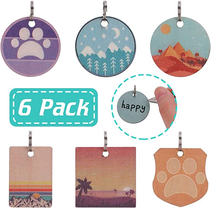 Pet ID Tags for Dogs - 6 Pack