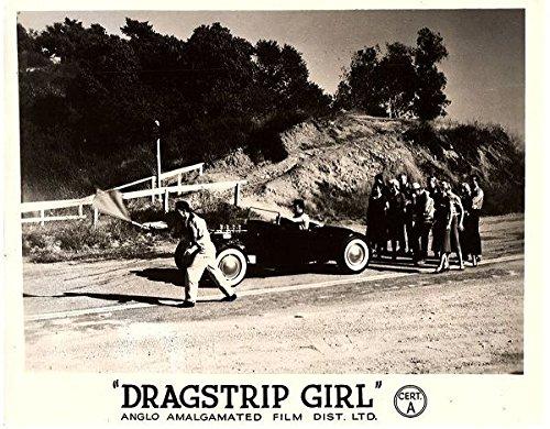 Dragstrip Girl (Dragstrip Girl 1957 Original Lobby Card Drag Racing Car Watched By Girls)
