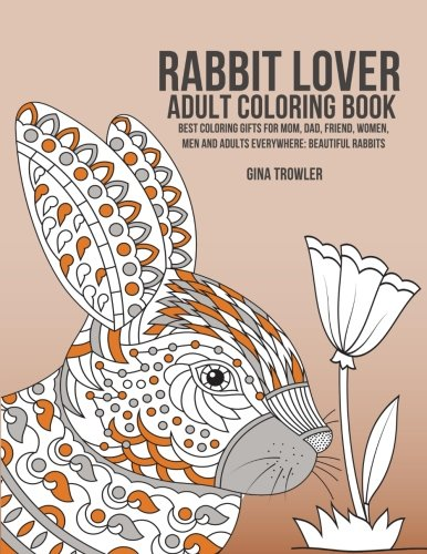 Rabbit Lover Adult Coloring Book product image