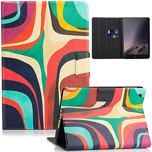 iPad Mini Case, Mini 2/3 Case, Dteck Lightweight Ultra Slim Flip Folio Stand PU Leather Magnet Cover with Auto Wake/Sleep Case for Apple iPad mini 1/ 2/ 3, Contour Map - Contour Leather Folio Case