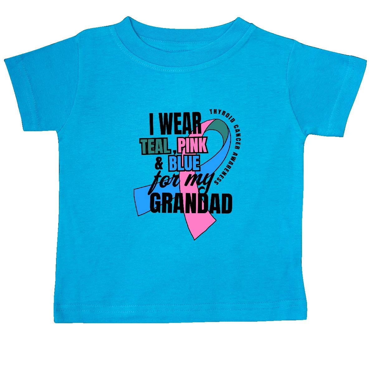 inktastic I Wear Teal Pink and Blue for My Grandad Baby T-Shirt