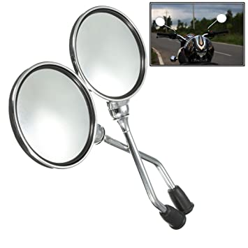 side view office set. trustway scooty rm03 rear view side round mirror handlebar fancy set of 2 pcs office